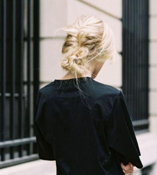 Blond hair braids