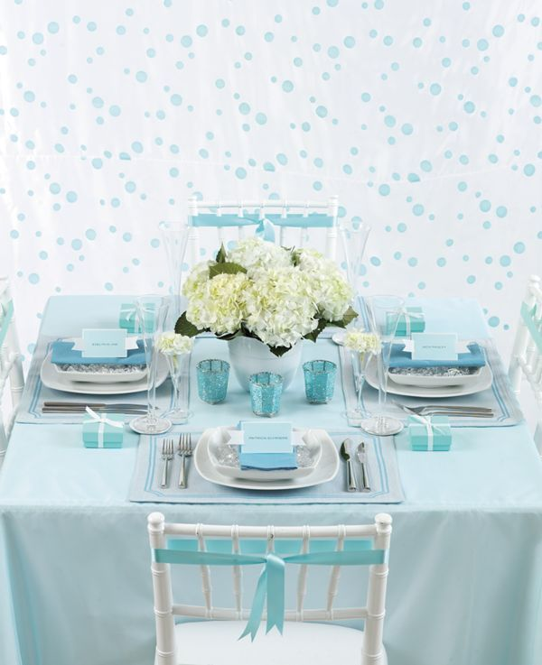 Blue Wedding Decorations: 30 Best Images About Tiffany Table Setting On Pinterest