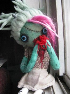 Zombie Dolls made by Lula Sailor with our handpainted ramie top | Lena Brown Designs