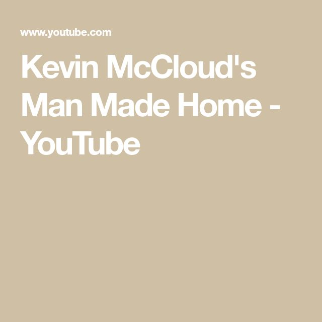 Kevin McCloud's Man Made Home - YouTube
