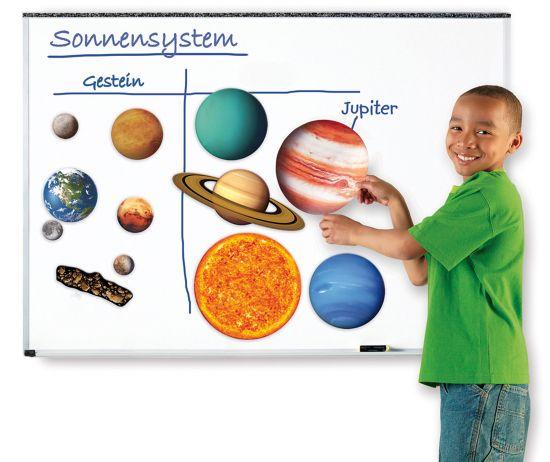 Sonnensystem, magnetisches Demomaterial - SCHUBI