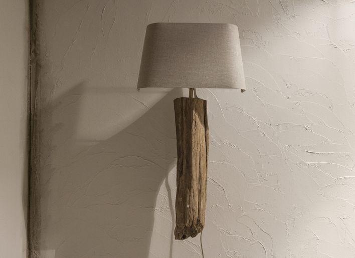 Wandlamp rustiek oud hout