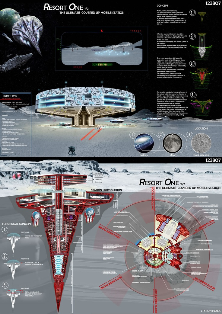 [A3N] : Starwars : Lunar Base (architecture & design competition) ( Honorable Mention 06 : RESORT ONE ) / Nicolas Del Corso, Christophe Defromont ( France)