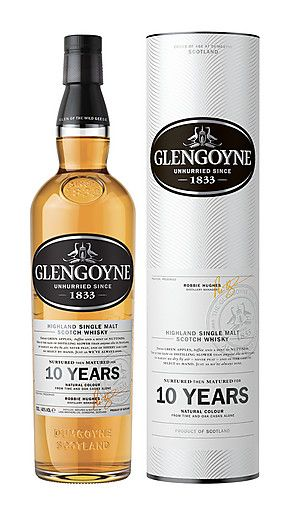 Fresh green apples, toffee and a hint of nuttiness. Read our tasting notes on the Glengoyne 10 Year Old Highland Single Malt Whisky. Buy Online here.