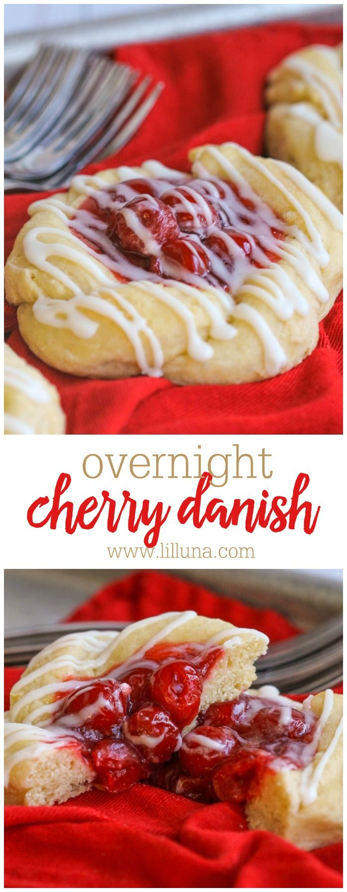 Overnight Cherry Danish - one of the yummiest and creamiest danish recipes you'll ever try!