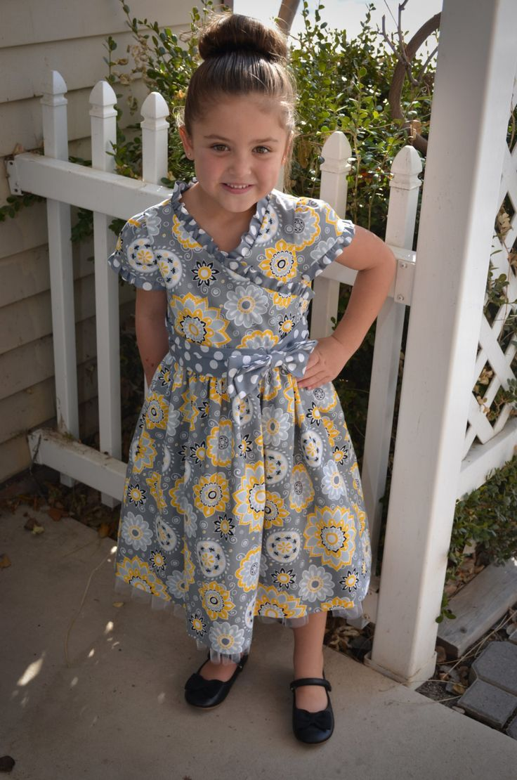 Little Girls Floral Party Dress with Tulle by sewsocutie on Etsy