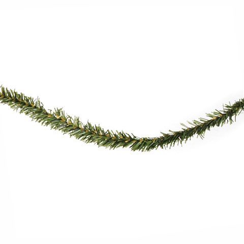 Darice® 3/4 inch Canadian pine garland. Perfect for festive holiday and winter crafts, this garland is an easy addition to miniature wreaths or swags, too. Also great for outdoor-inspired home décor projects. Check out this cute Cinnamon Stick Tree Ornaments project for a fun way to use this mini pine garland in crafts this holiday season! 25 feet per piece.