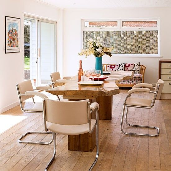 Neutral dining room | Dining room decorating