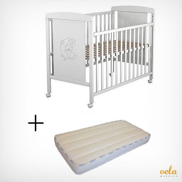 Cuna de bebé completa para que no te falte de nada. Cuna, colchón viscoelástica y protector impermeable. Aprovecha este pack en oferta