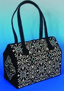 Night & Day Tapestry Bag, Plastic Canvas Tapestry Needlepoint Kit 2216