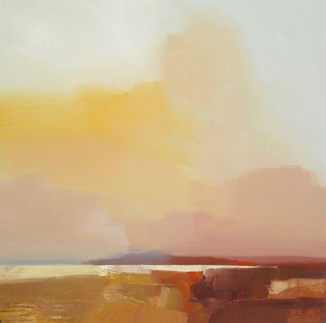 "robert roth landscape #80 2013 (36"" x 36"" acrylic, oilstick on canvas)"