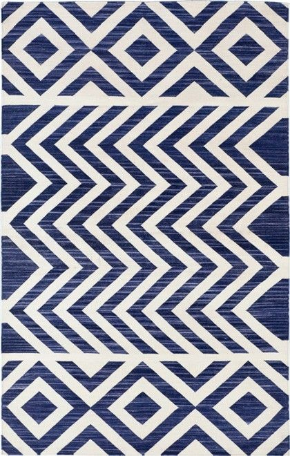 Madeline Weinrib - Cotton - Carpets - Blue Lupe