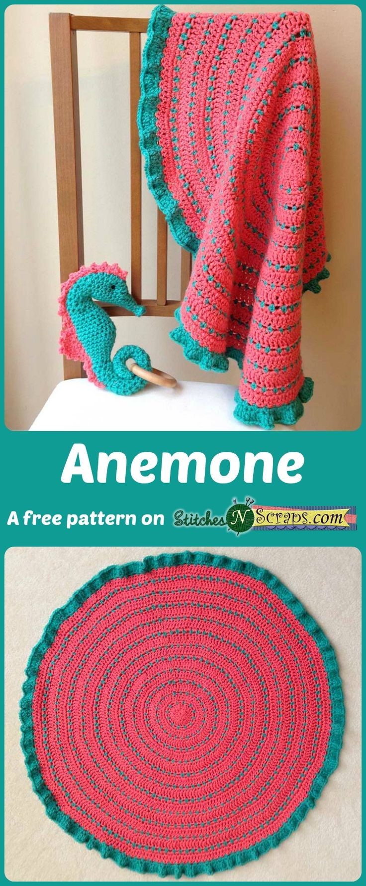 250 best cute cuddly baby blankets images on pinterest tutorial anemone security blanket a free pattern on stitchesnscraps 1 skein of baby hugs web patternsafghan patternscrochet bankloansurffo Choice Image