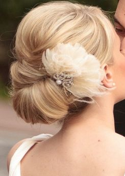 Up do with silk flower