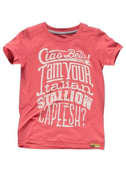 Moodstreet Moodstreet shirt rood Ciao Bella