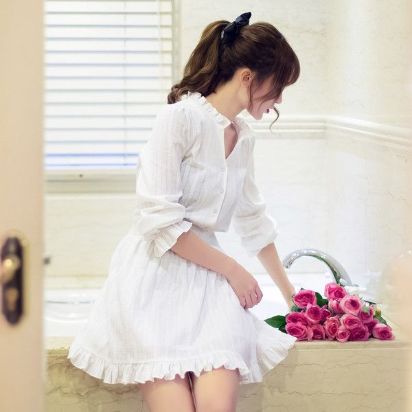 Japanese Fashion - Lace collar cotton dress - AddOneClothing - 2