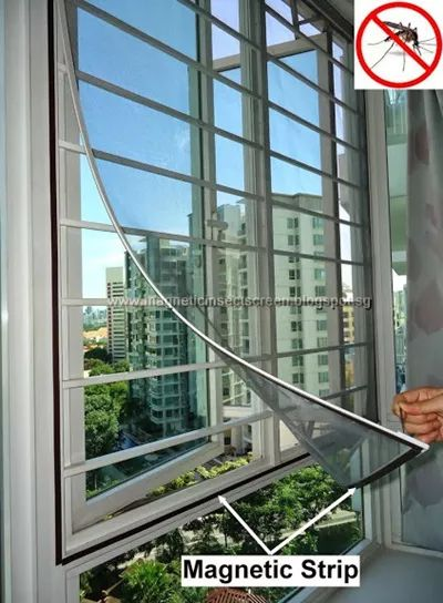 DIY Magnetic Mosquito / Insect Screen Kit (SG Seller) Window Netting  Mosquito Net Mesh