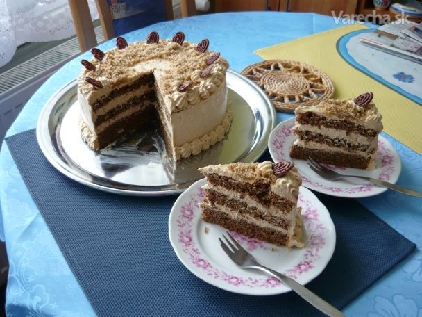 Torta kávovo-koňaková