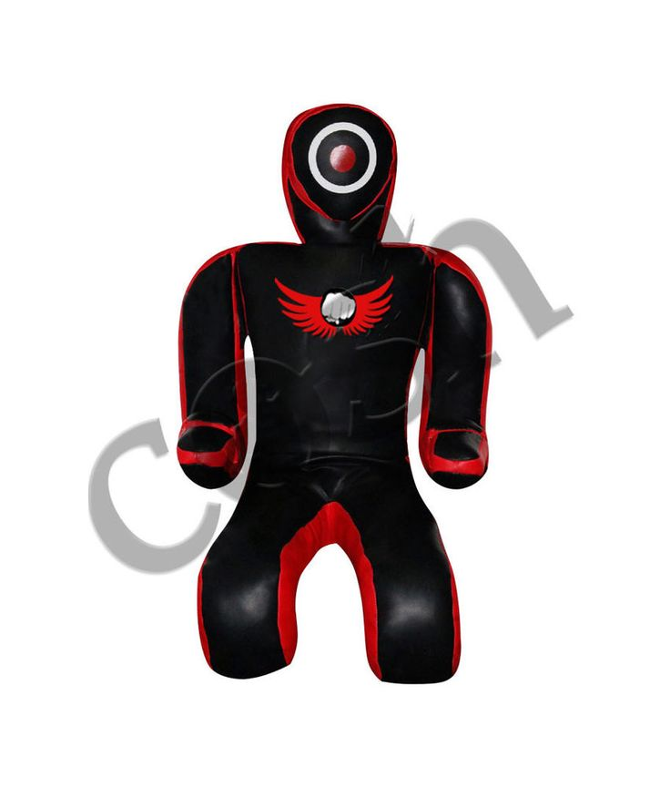 Red And Black BJJ MMA Grappling Synthetic Leather Dummy For Training 6 ft #COSH