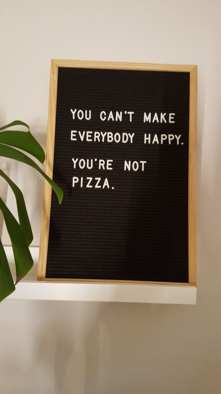 Letterboard Spruch Pizza