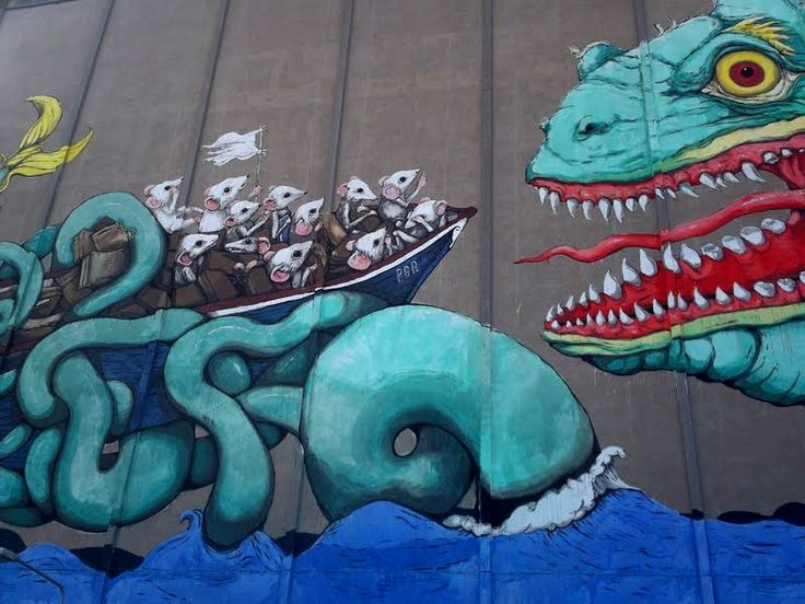 L'imponente murales di Ericailcane. #streetart #italy #murales