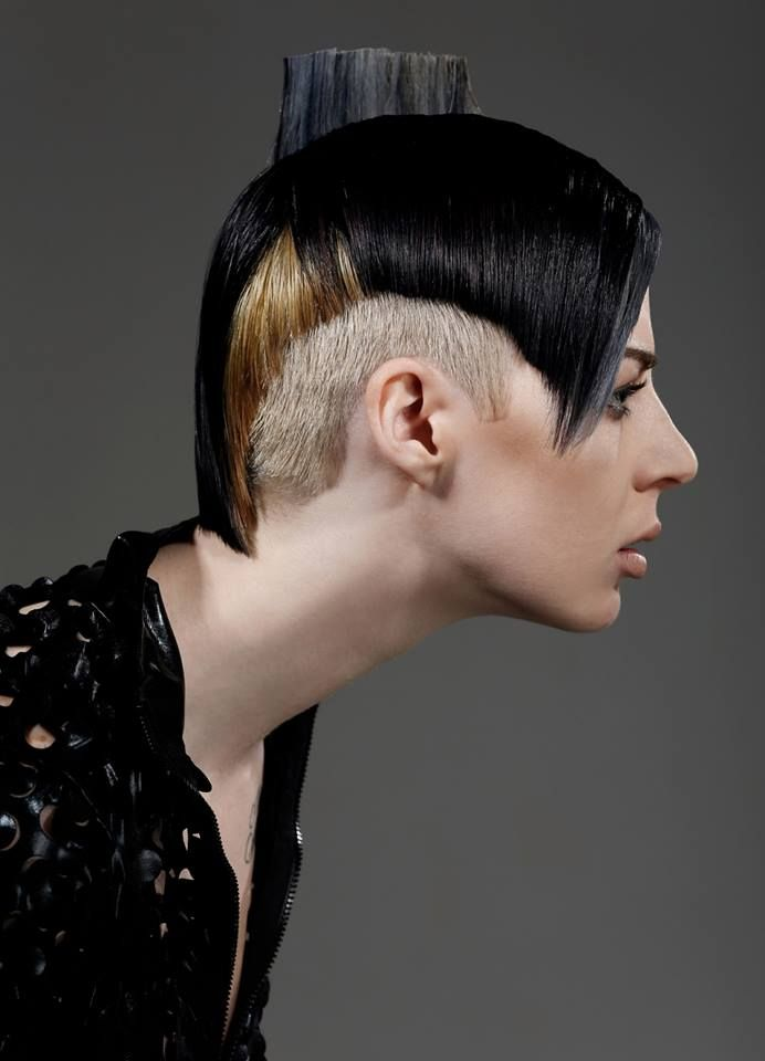 Created by Joshua Congreve #wella #trendvision #trendvision2014 #borderlinebeauty #sleek #sharp #monochrome #sexy #hair #hairstyle #competition #photoshoot #makeup #styling #iwantthathair #haircut #shorthair #fashion