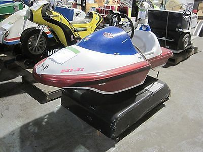 Speed Boat Racing Motor boat Coin opperated Kiddy Kiddie Ride Amusement Antique