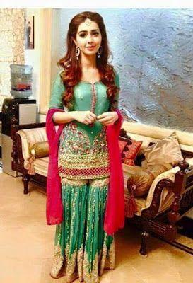 Latest Pakistani Mehndi Dresses for Brides 2016 - http://www.fashionurl.com/2016/03/latest-pakistani-mehndi-dresses-for.html