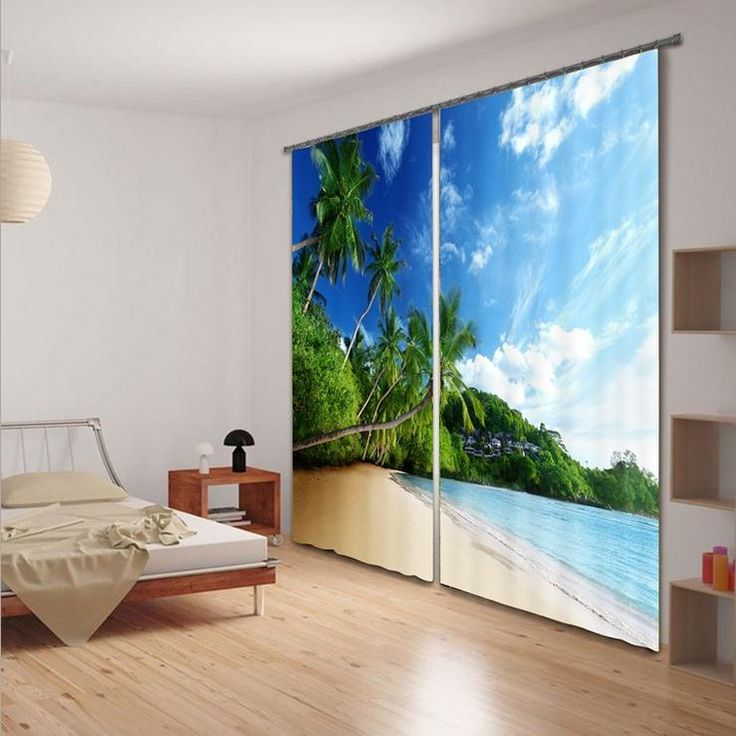 Superior Quality Beach Coconut Tree 3D Printing Sunshade Window Curtain for Office Bedroom Living Room Drapes Scenery Cortians-in Curtains from Home & Garden on Aliexpress.com | Alibaba Group
