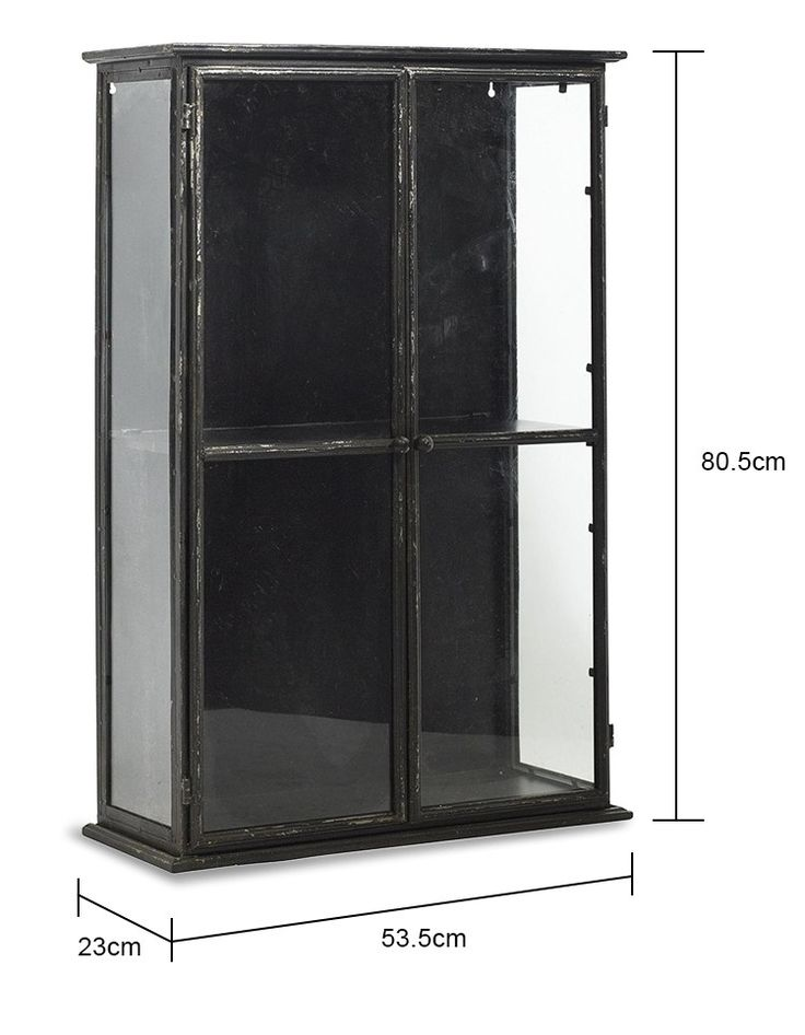 Glass Display Cabinet in Black