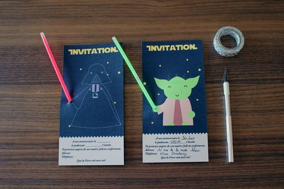 L'anniversaire Star Wars : l'invitation | minisushi Plus