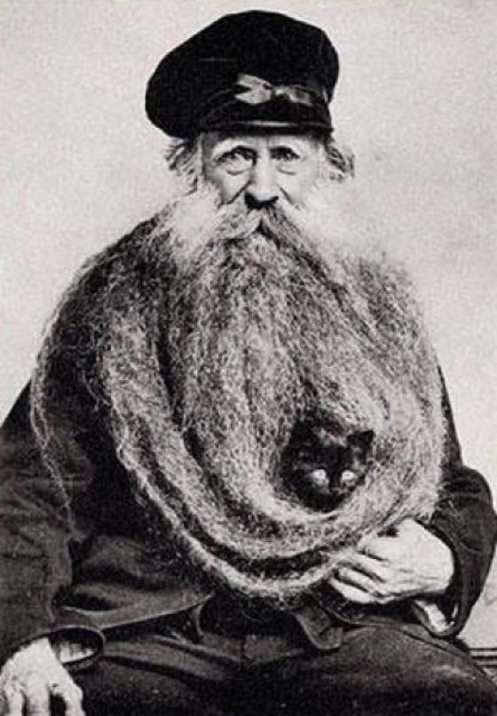 Vintage foto's van mensen met dieren
