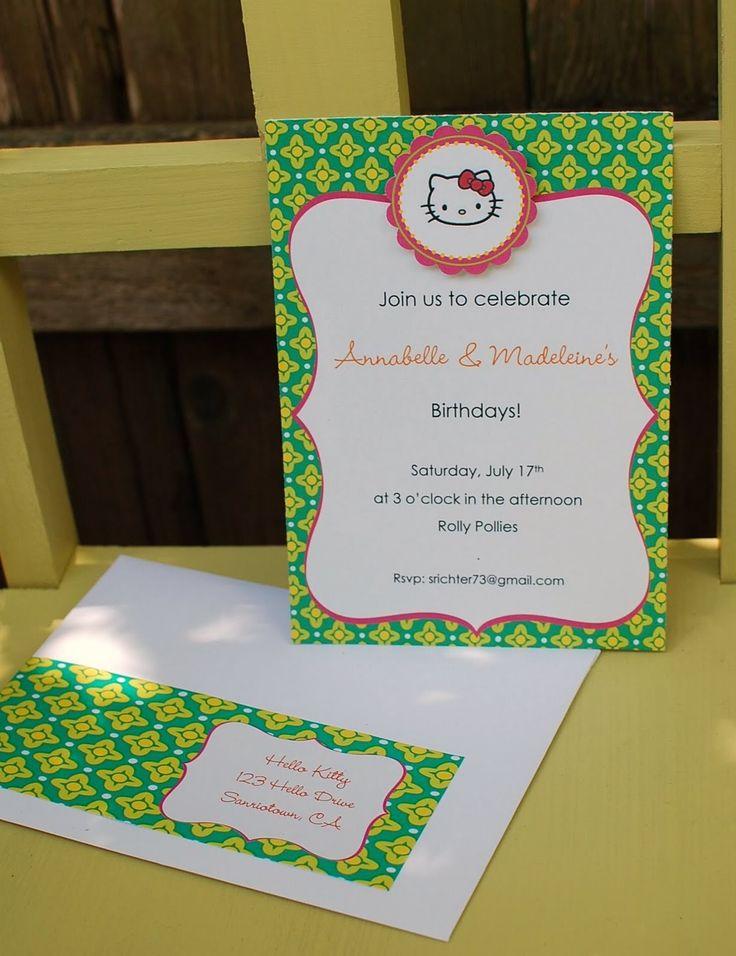 EAT DRINK PRETTY: hello kitty invitation children's parties