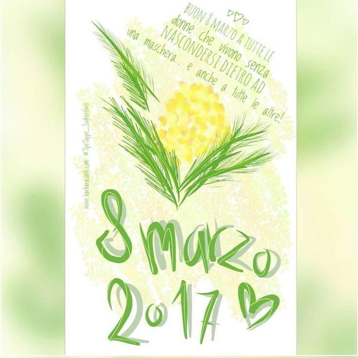#Buon #8marzo a tutte le #donne che vivono senza nascondersi dietro ad una maschera.. e anche a tutte le altre!   #TipeTappe_SugherGirls #festadelledonne  #donnediinstagram #instawoman #womenoftheworld #donnedelmondo  #digitallettering #onlyfinger #mimosa #yellow #giallo
