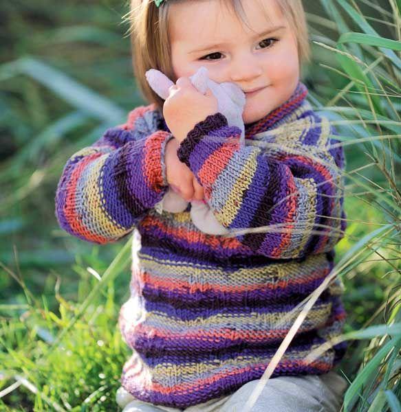 Детский свитер с высоким воротом - схема вязания спицами. Вяжем Свитеры на Verena.ru