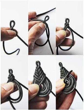 Basteln mit Leder Teil 3: Geflochtene Ohrhänger