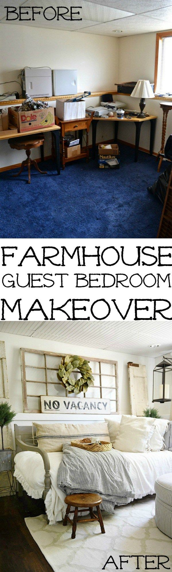 Farmhouse Guest Bedroom Makeover