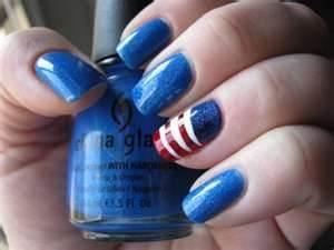 #Obama nailsJuly Nails, Nails Art, Nailart, Nails Design, China Glaze, Fourth Of July, 4Th Of July, Patriots Nails, Nail Art