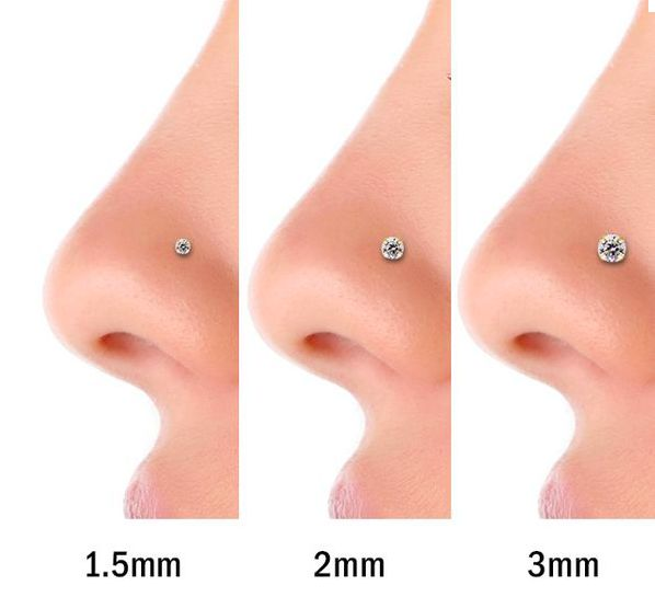 Stuck on what size stud you want? Get a sense of what they would look like.