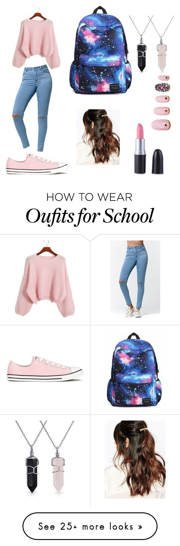 """""""school"""" by junezaba on Polyvore featuring Chicnova Fashion, Bullhead Denim Co., Converse, Suzywan DELUXE, Bling Jewelry and Static Nails"""