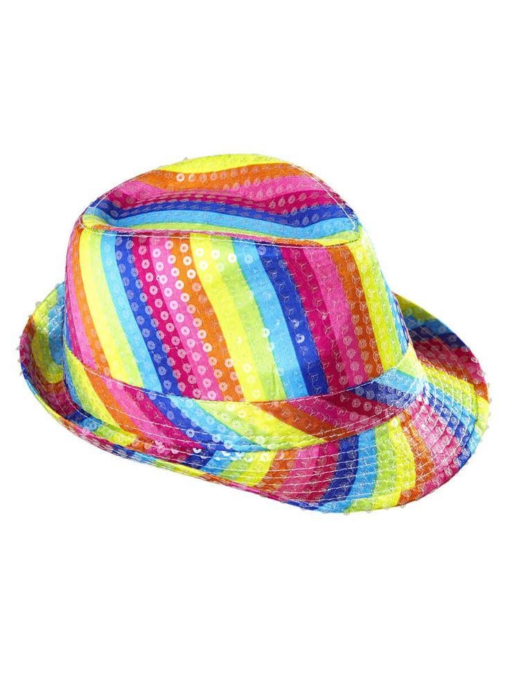 Sombrero colorido de lentejuelas para hombre y para mujer