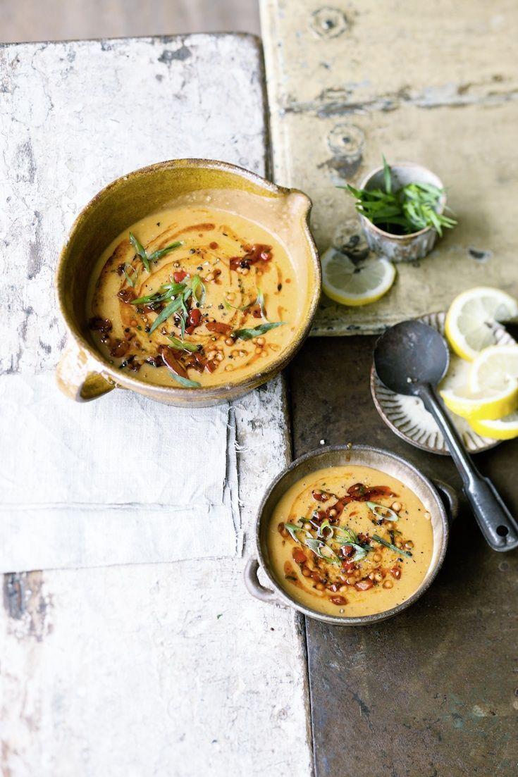 #Curry-Linsensuppe mit #Kokosmilch #Rezept #vegetarisch #vegan