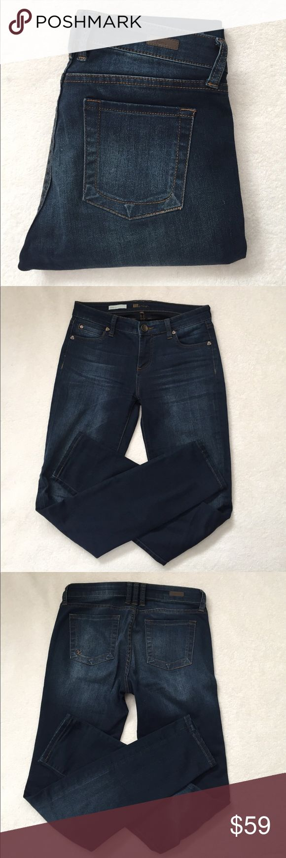 """KUT Jeans Cute KUT """"Diana"""" skinny jeans. Only worn a few times! Excellent condition! Inseam 31"""" waist across 15.5"""" Rise 8.5"""" Kut from the Kloth Jeans Skinny"""