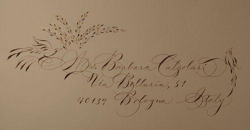sample of Spencerian envelope with walnut ink by Barbara Calzolari, via Flickr