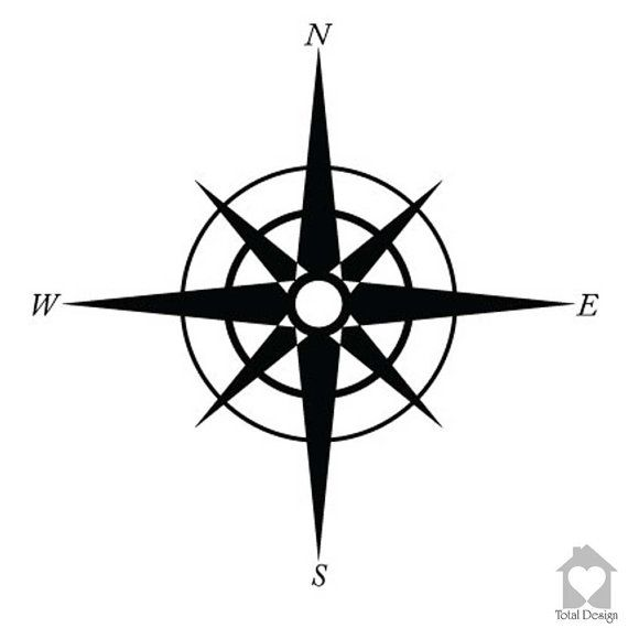 Compass - Vinyl Wall Decal, Vinyl Wall Decor, Vinyl Decal, wall Decal, wall stickers, väggord, väggtext, väggdekor, Sisustustarra, 565_