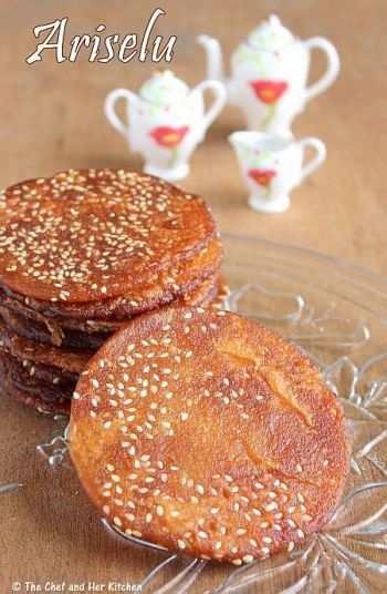 Ariselu | Adhirasam - Sweet Rice flour discs
