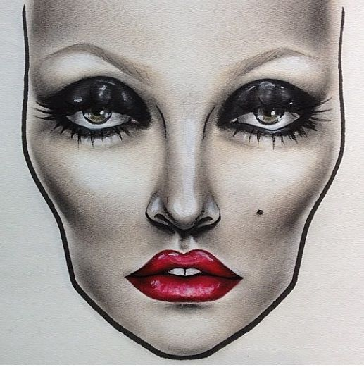 #makeup #facechart #inspiration #artist #beauty #mac #cosmetics #mua