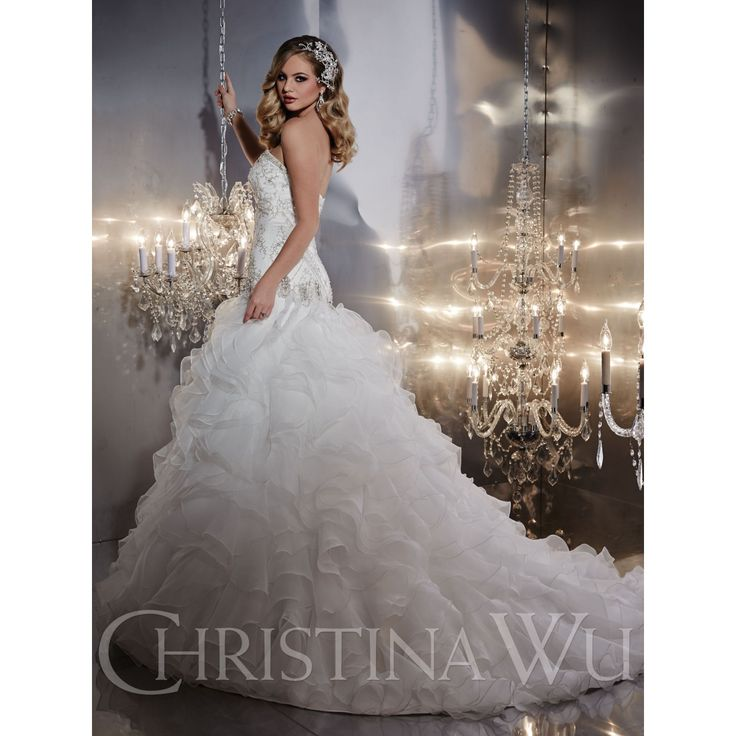 Fresh You will be ready for an evening full of excitement and happiness when you opt for this mesmerizing Christina Wu wedding dress