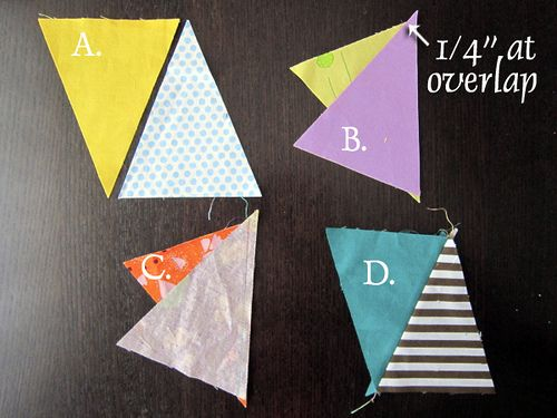 Stitched in Color: Scrap Attack {Triangles Quilt Tutorial}