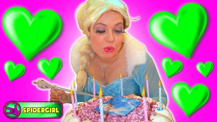 Frozen Elsa Birthday party with Spiderman at indoor playground - Spiderg...